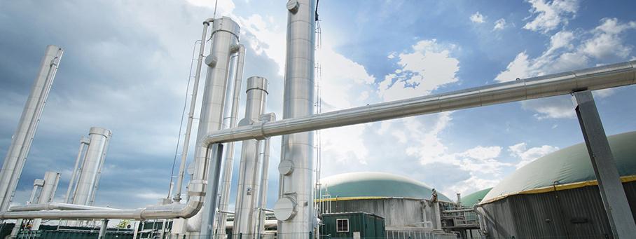 Biogas Anlage Rohre EWE Netz