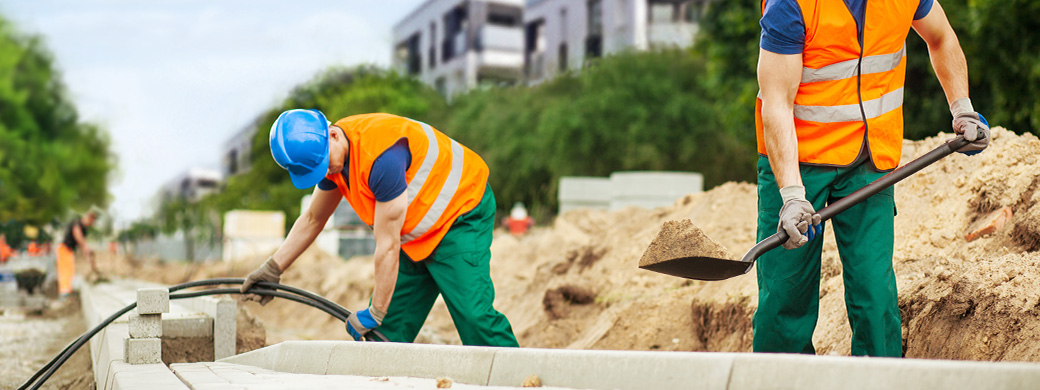 Glasfaserkabel Bauarbeiter EWE Netz