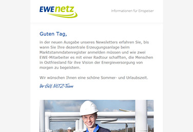 EWE Netz Aktuell Newsletter August 2018